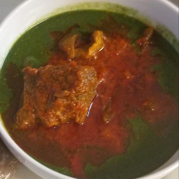 Bean and Jute Sauce (abula)